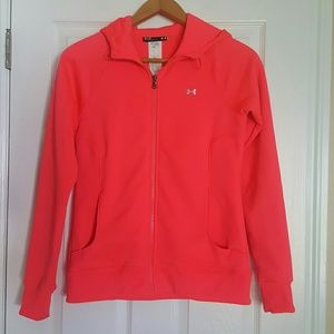 Under Armour womens bright Coral zip up hoodie M